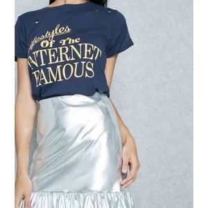 NWT Internet Famous Wildfox Distressed Tee
